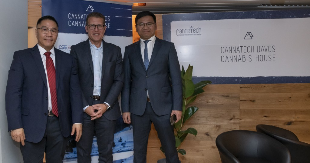 From left to right: Mr Philip Gu, SCU Group CEO; Jason Paltrowitz, OTC Markets; and Michael Huang, SCU Director